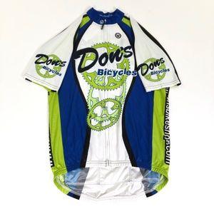 "CANARI Men/'s Cycling Jersey Size XL Sport Tee TWILIGHT BLUE Single 9/"" Zip Pocket"